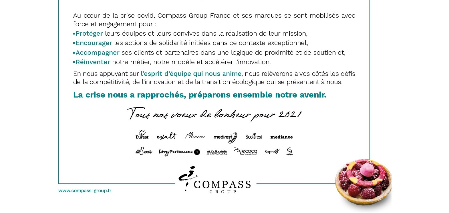 Voeux Compass Group France 2021
